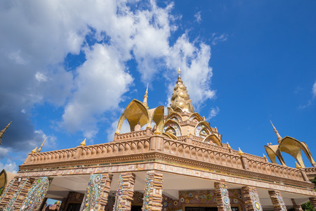 gold pagoda in Wat Phra That Pha Son Kaew Temple at Phetchabun, Thailand