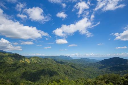 koh kho khao: mountain with blue sky and cloud at Khao Kho, Phetchabun, Thailand