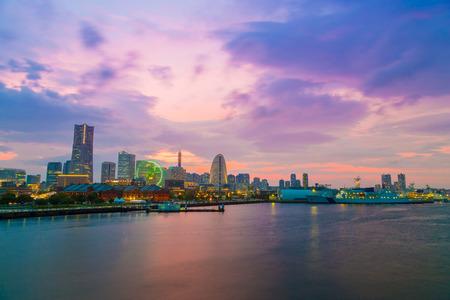 minato: cityscape of Minato Mirai District, Yokohama, Japan