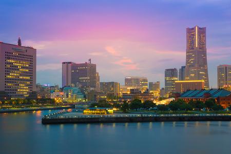 cityscape of Minato Mirai District, Yokohama, Japan