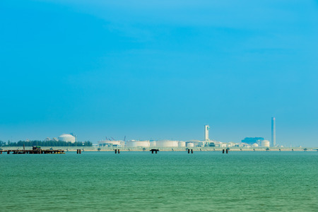 rayong: electrical power plant near the sea coat, Rayong, Thailand