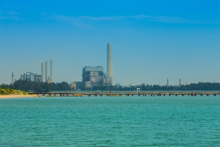 desalination: electrical power plant near the sea coat, Rayong, Thailand