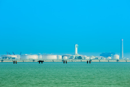 electrical power plant near the sea coat, Rayong, Thailand