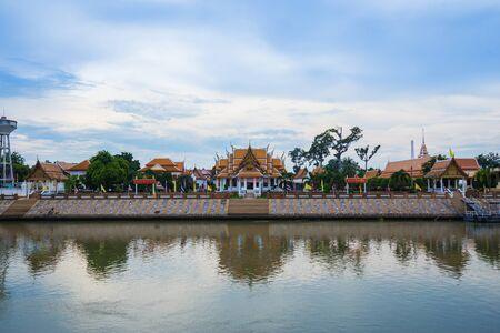 Wat Kasattrathirat Worawihan temple in Ayutthaya province, Thailand