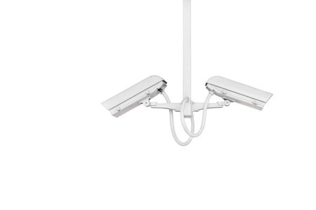 secure: cctv camera isolated on white background (with clipping path) Stock Photo