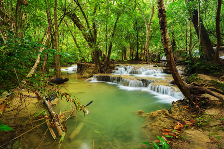 kanchanaburi: Level 7 of Huay Mae Kamin waterfall in Khuean Srinagarindra National Park, Kanchanaburi Province, Thailand