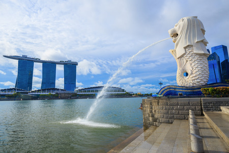 Merlion park in Singapore city