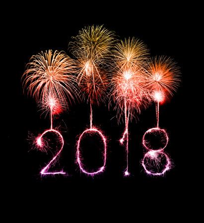 새해 복 많이 받으세요 2018 밤에 불꽃 놀이로 작성했습니다.