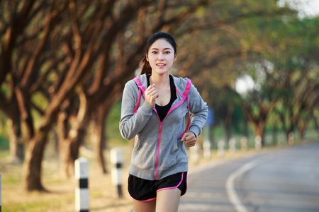 fitness woman running in the park