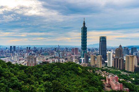 city view of Taipei, Taiwan Banco de Imagens