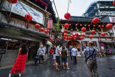 Jiufen, Taiwan – 10 June, 2019: Unidentified People visit heritage Old Town of Jiufen in New Taipei City, Taiwan. Editorial