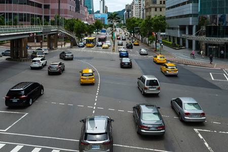 Taipei, Taiwan- 9 June, 2019: Traffic on road in Taipei, Taiwan