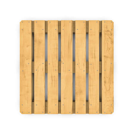 Three-dimensional illustration of wooden pallet isolated on a white background Banco de Imagens - 34526615