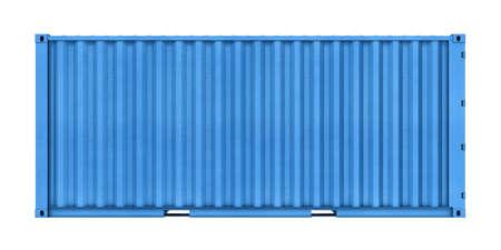 白い背景で隔離の金属容器の立体イラストレーション