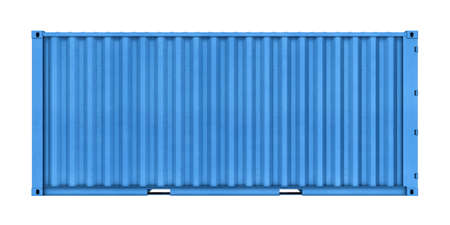 Three-dimensional illustration of metal container isolated on a white background