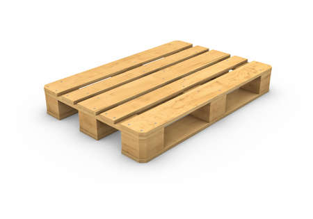 Three-dimensional illustration of wooden pallet isolated on a white background Banco de Imagens - 34557137