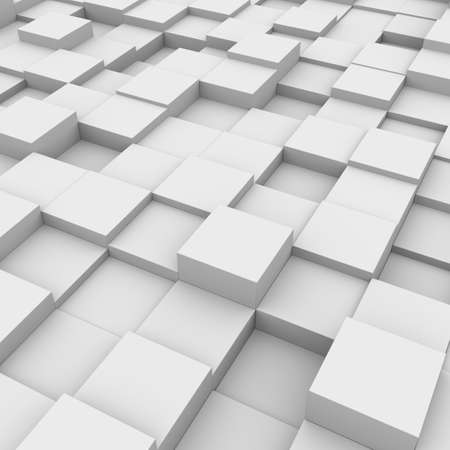 Three-dimensional illustration of background with white boxes illustration