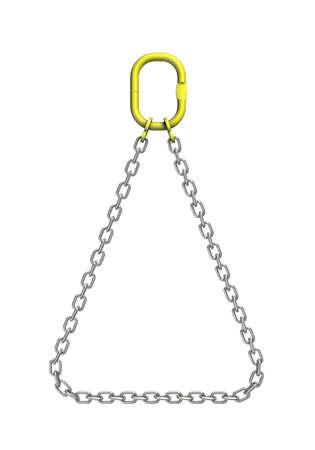 Drie-dimensionale afbeelding van de lading band. metalen ketting Stockfoto