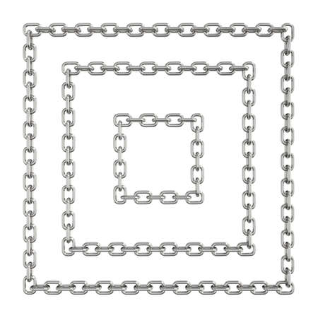 Three-dimensional illustration of chain isolated on a white background illustration