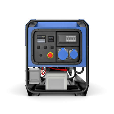 threedimensional: Three-dimensional illustration of portable gasoline generator isolated on a white background