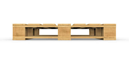 Three-dimensional illustration of wooden pallet isolated on a white background Banco de Imagens - 34740279