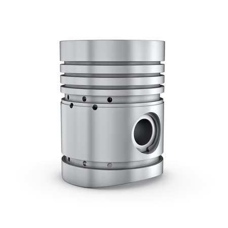Three-dimensional illustration of piston isolated on a white background Banco de Imagens