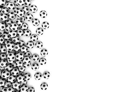 indoor soccer: Three-dimensional illustration of soccer ball isolated on a white background Stock Photo