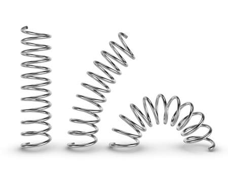 metal spring: Three-dimensional illustration of metal spring isolated on a white background Stock Photo