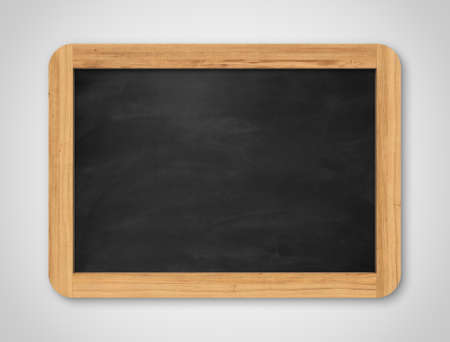 Blank black chalkboard. Background and texture. School board on gray background Banco de Imagens - 34754185