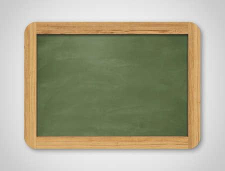 空の緑の黒板。背景のテクスチャ。灰色の背景に学校掲示板