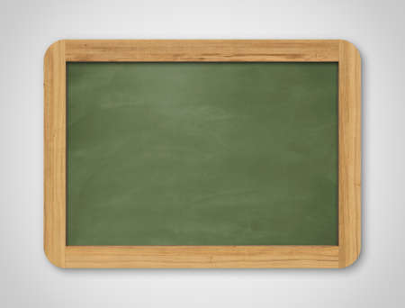 Blank green chalkboard. Background and texture. School board on gray background