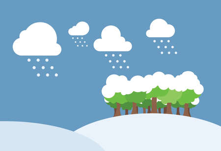 snow field: Winter day with snow field. Simple clean background illustration Stock Photo