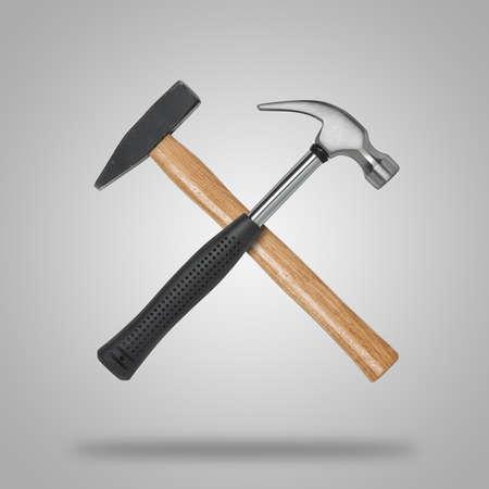 sledgehammer: Crossed hammer and sledgehammer.