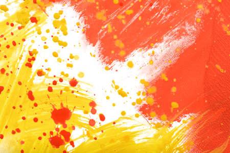 daub: Yellow-red abstract hand-painted gouache brush stroke daub background texture