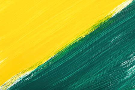 daub: Yellow-green abstract hand-painted gouache brush stroke daub background texture