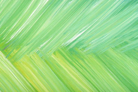 Green abstract hand-painted gouache brush stroke daub background texture. Stock Photo
