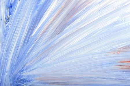 daub: Blue abstract hand-painted gouache brush stroke daub background texture.