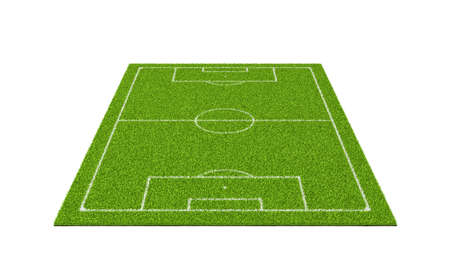 3d rendering of a soccer grass sport field with white lines