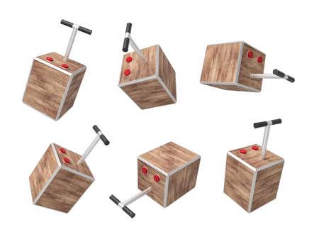 3d rendering set of tnt detonator boxes isolated on white background Stock Photo