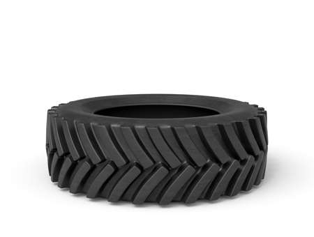 3d rendering of black vehicle tire isolated on white background
