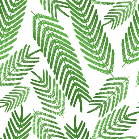 Fern seamless pattern. Large leaves on an isolated background. Vector. Idea for wallpaper, cover, textile, wall. Tropical print. Flat style.