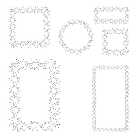 A set of vector frames for social networks.