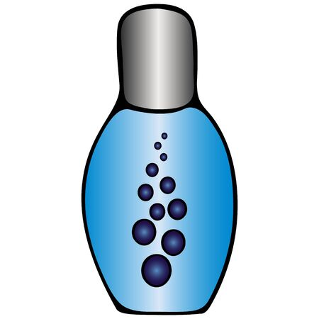 Sanitizer for hand disinfection. Color vector illustration. Antiseptic in a compact bottle on an isolated white background. Protection against coronavirus infection Covid-19, germs and bacteria. Cartoon style. Illustration for web design.