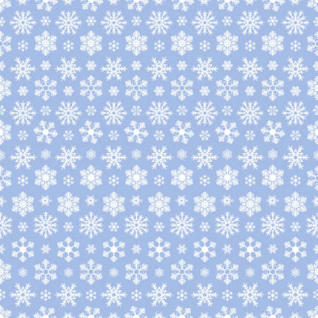 Snowflakes. Repeating vector pattern. Isolated purple background. Seamless festive ornament. Delicate crystal background. Idea for web design, packaging, wallpaper, cover, textile. Frostwork.