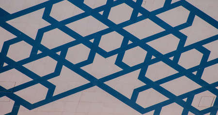 Wall background pattern in arabic style. Taken in Abu Dhabi, in the UAE.
