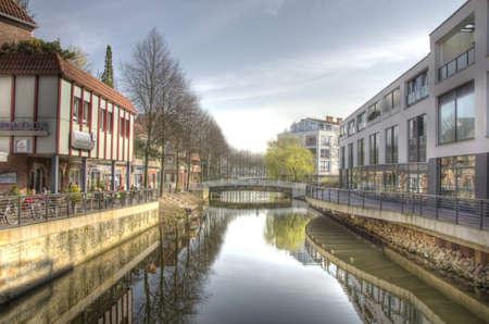 spiegelung: Wasserstadt Nordhorn