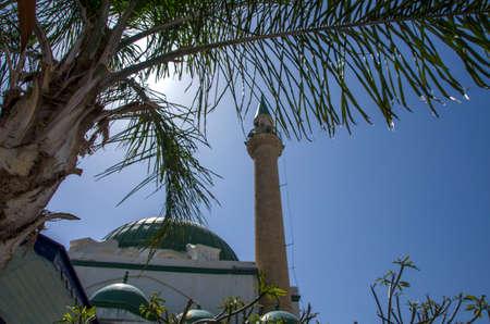 akko: Ahmed Jazzar Mosque Akko Israel Stock Photo