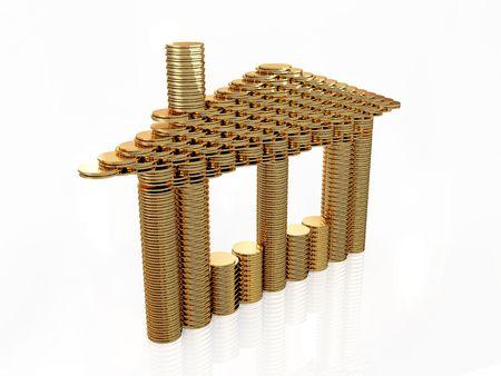 Coin house Stock Photo