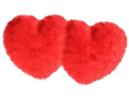 Fur hearts Stock Photo