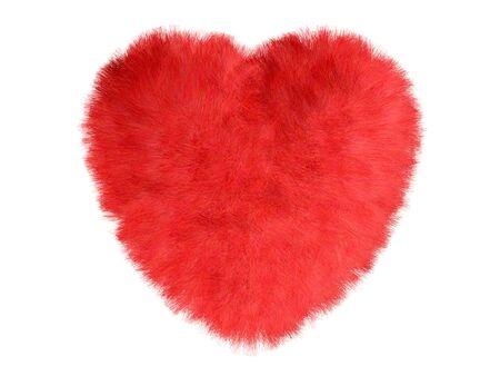 Fur heart Stock Photo